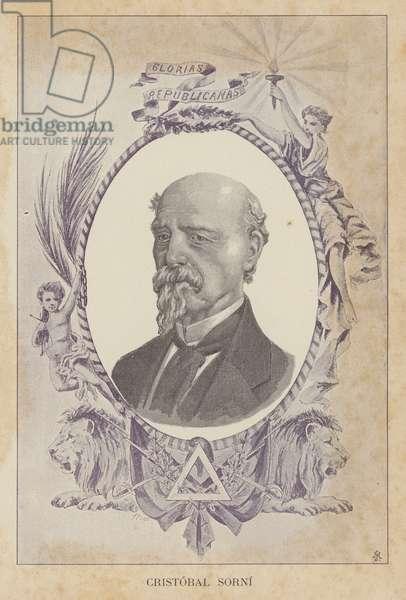 Jose Cristobal Sorni, Spanish politician (litho)