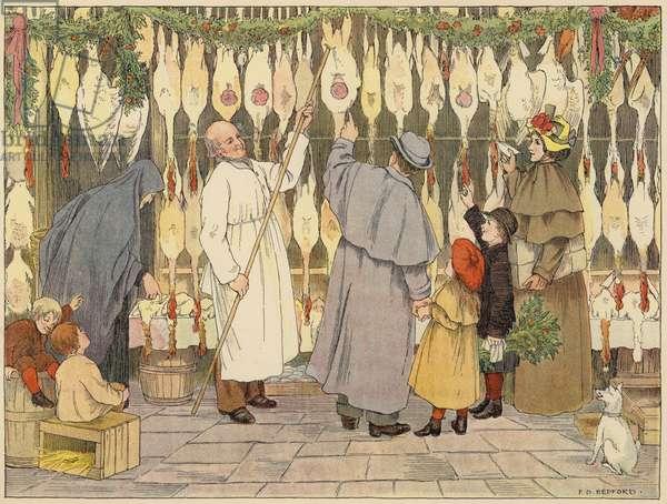Bedford's Book of Shops: Poulterer (colour litho)