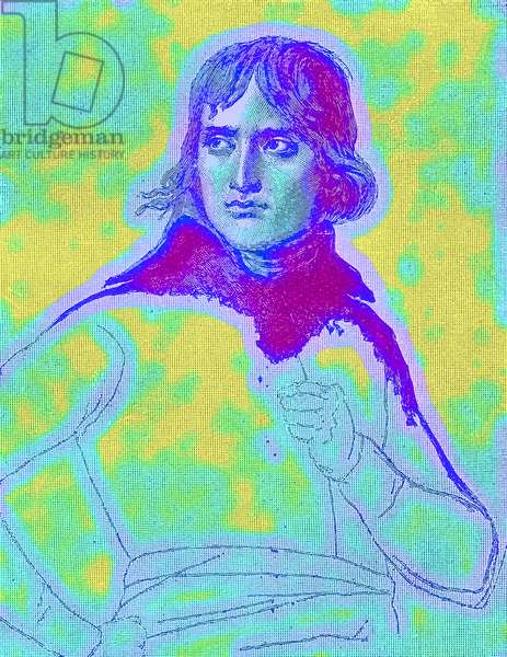 Napoleon Bonaparte, First Consul, illustration from 'History of England' by H. O. Arnold-Foster, published 1897 (digitally enhanced image)