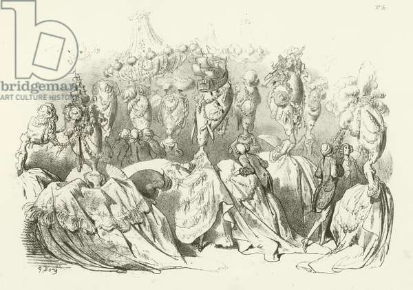 Head dresses in the Reign of Louis XVI (gravure)
