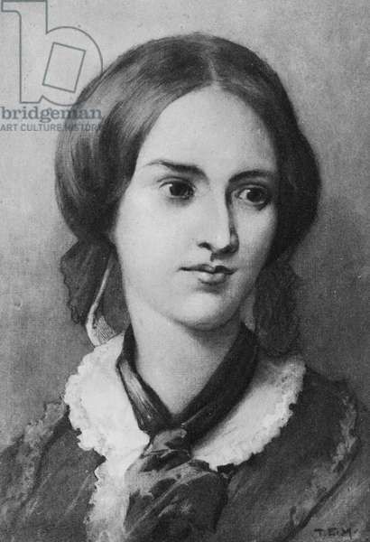 Portrait of Charlotte Bronte (litho)