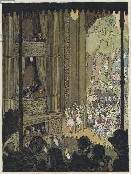 London: Drury Lane Pantomime (colour litho)