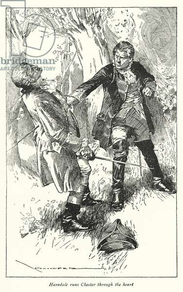 Illustration for Barnaby Rudge by Charles Dickens (litho)