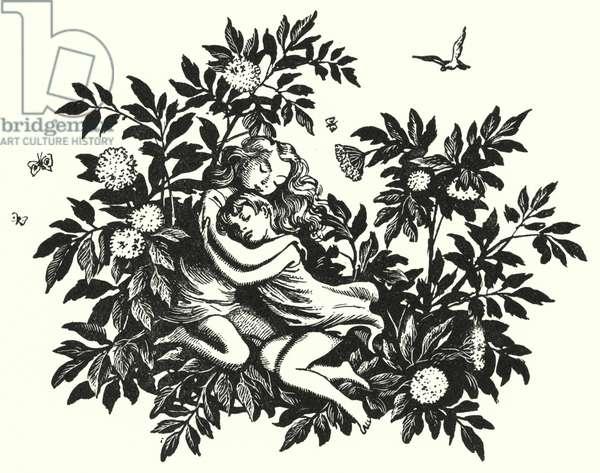 Hans Christian Andersen: The Elder-Tree Mother (litho)