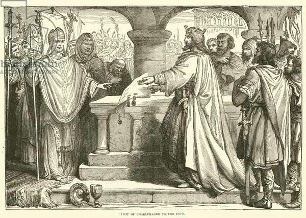 Visit of Charlemagne to the Pope (engraving)