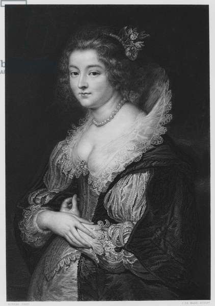 The Wife of Rubens, from the picture in the Royal Collection (engraving)