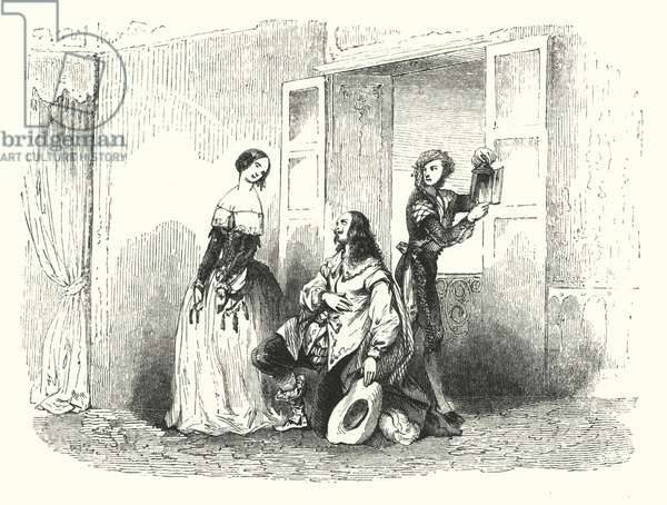 Illustration for The Barber of Seville by Rossini (engraving)