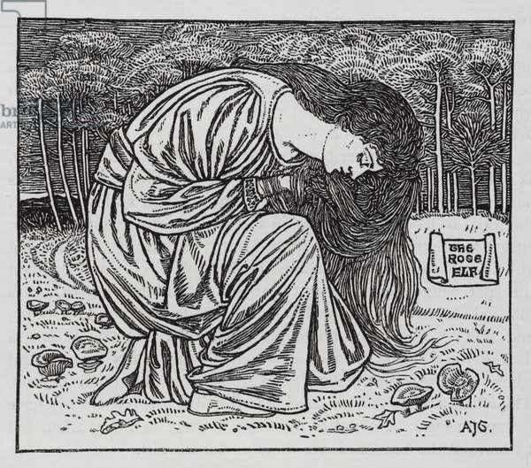 Hans Christian Andersen: The Rose Elf (litho)