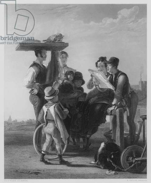 Reading the News, from the picture in the Vernon Gallery (engraving)