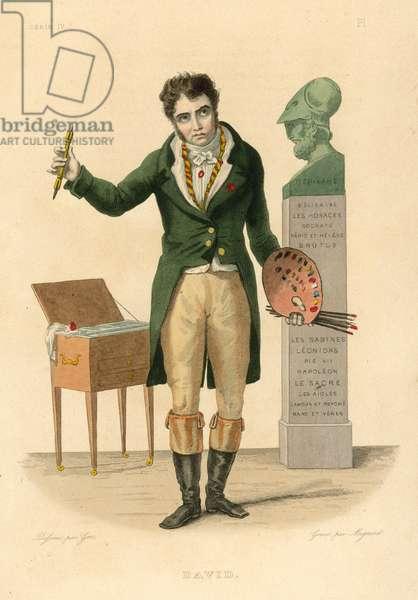 Jacques-Louis David (coloured engraving)