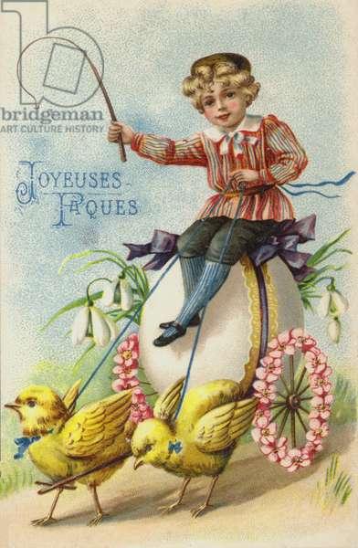 Easter greetings card (chromolitho)