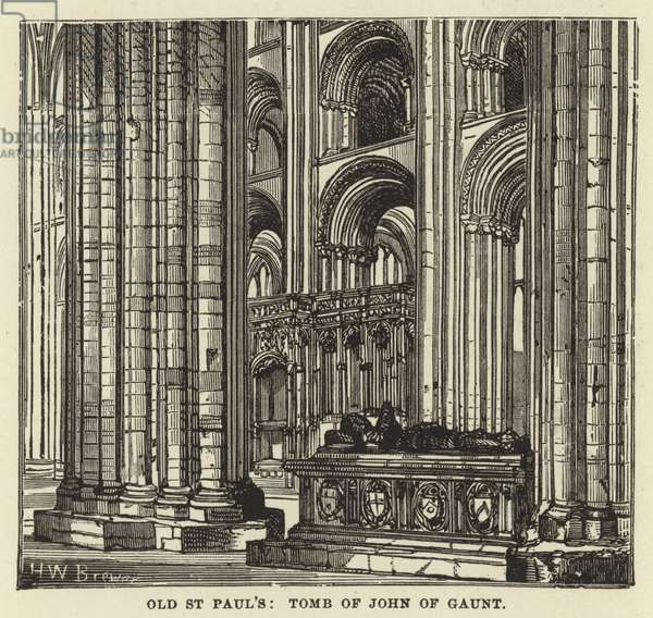 Old St Paul's, Tomb of John of Gaunt (engraving)