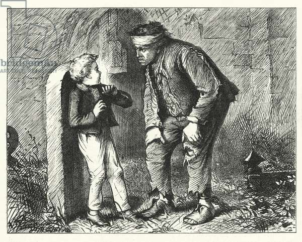 Illustration for Great Expectations by Charles Dickens (engraving)