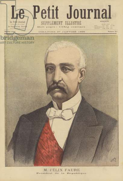 Felix Faure, President of the French Republic (colour litho)