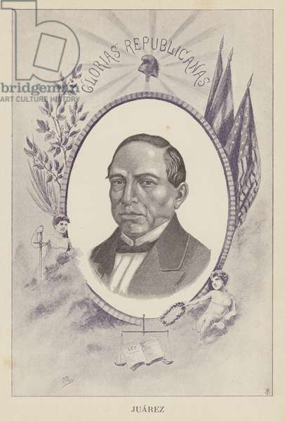 Benito Juarez, Mexican lawyer and politician (litho)
