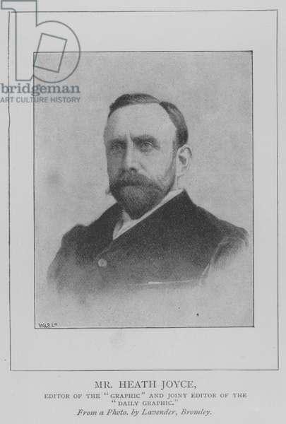 Mr Heath Joyce, Editor of the