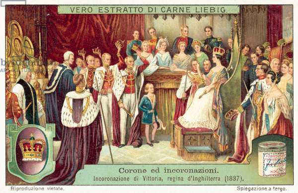 Coronation of Queen Victoria, 1838 (chromolitho)