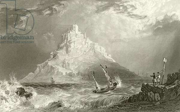 St Michael's Mount, Cornwall (engraving)