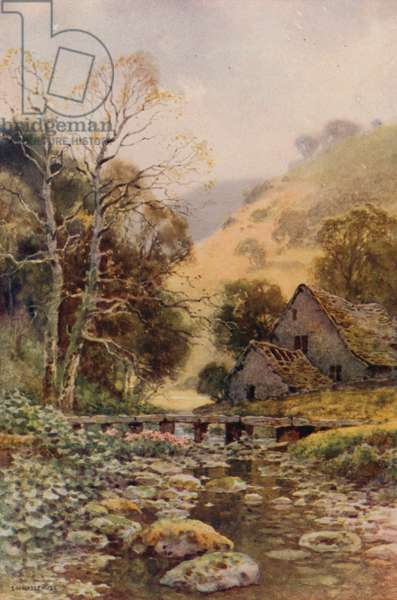 Lathkil Dale (colour litho)