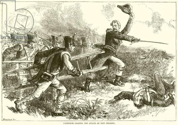 Pakenham leading the attack on New Orleans (engraving)