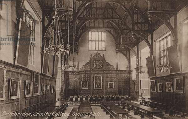 Trinity College, Dining Hall, Cambridge (b/w photo)