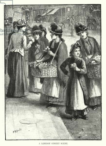 A London Street Scene (engraving)