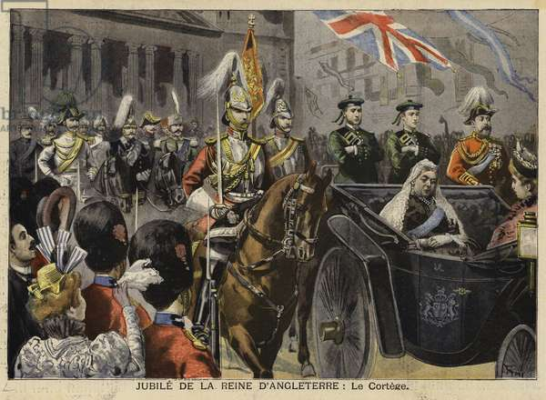 Diamond Jubilee of Queen Victoria, 1897 (colour litho)