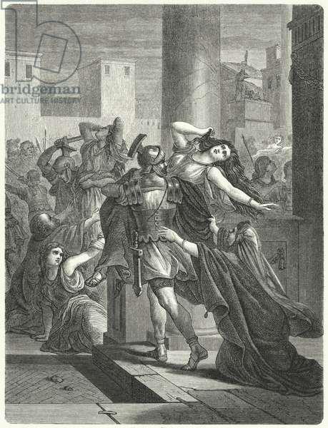 Rape of the Sabine women (engraving)