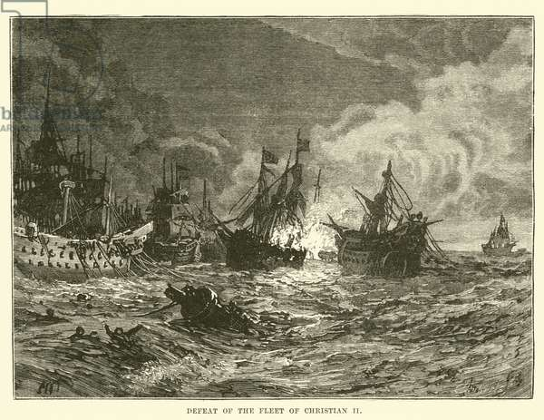 Defeat of the Fleet of Christian II (engraving)