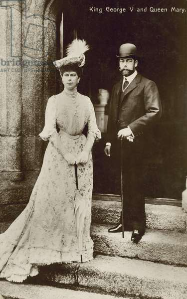 King George V and Queen Mary (b/w photo)
