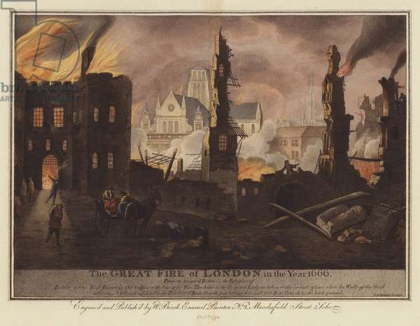 The Great Fire of London in the Year 1666 (engraving)