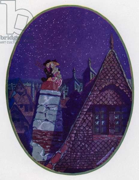 Le Bergere et le Ramoneur (colour litho)