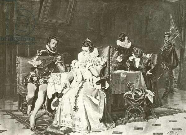 Mary Stuart and Rizzio (gravure)