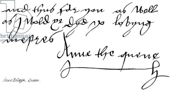 Anne Boleyn, Queen (engraving)