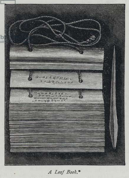 A leaf book (engraving)