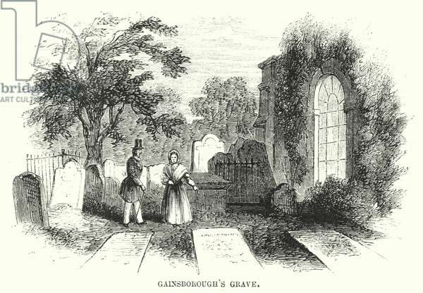 Gainsborough's Grave (engraving)
