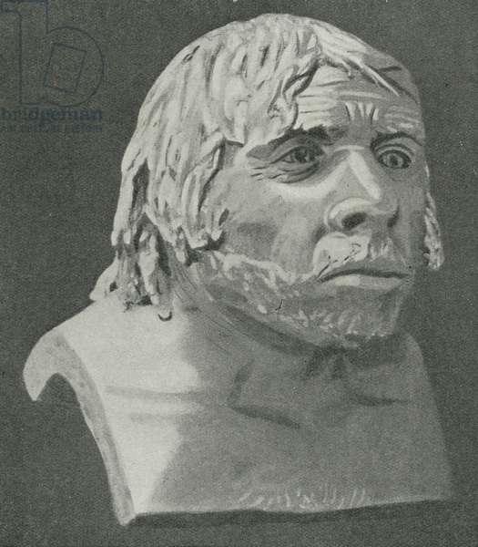 The Neanderthal Man of La Chapelle-aux-Saints (litho)