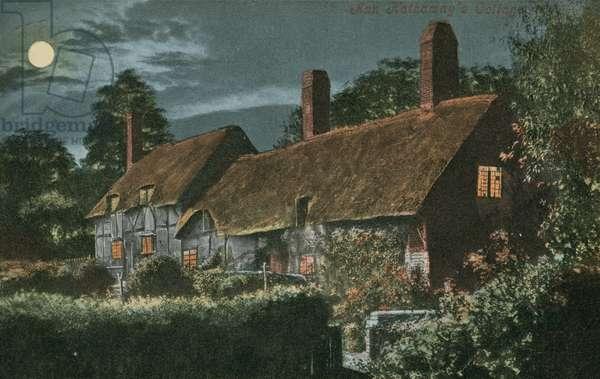 Ann Hathaway's Cottage. Postcard sent in 1913.