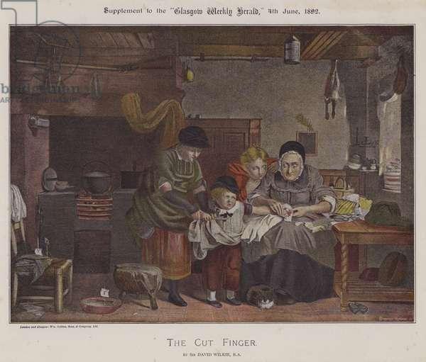 The Cut Finger (colour litho)