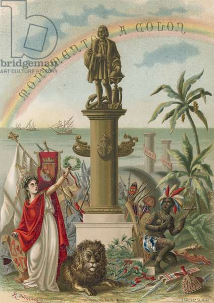 Frontispiece to book on Columbus
