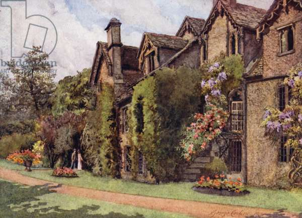 Oxford: The Old Benedictine Buildings, Worcester College (colour litho)