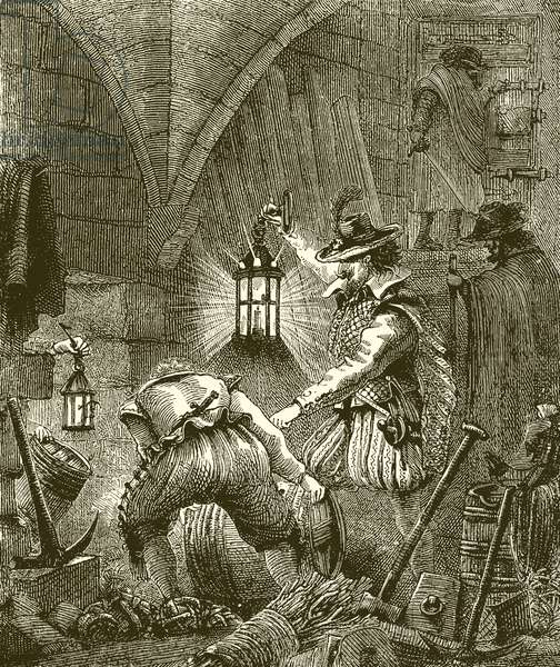The Conspirators at work (engraving)