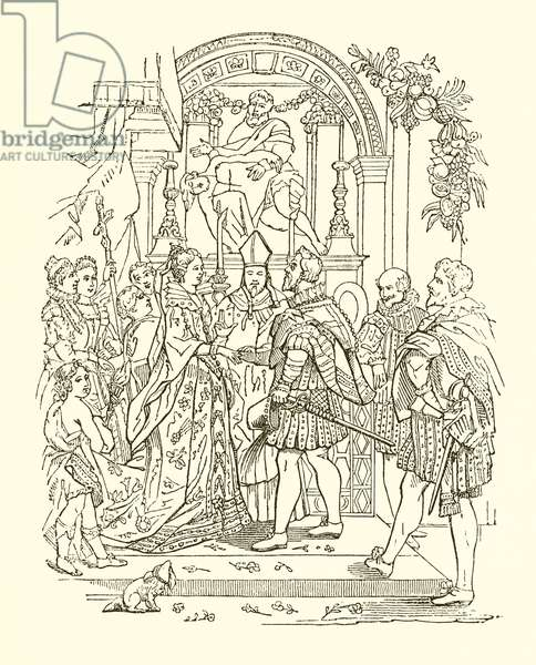 Marriage of Henry IV and Mary de Medicis (engraving)