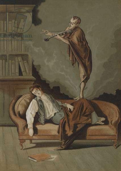 The devil's sonata (chromolitho)