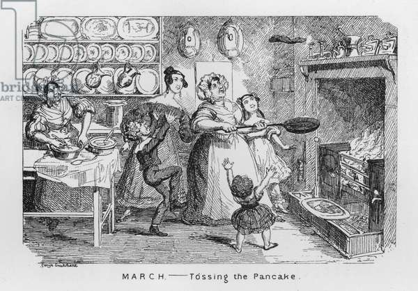 March, Tossing the Pancake (engraving)