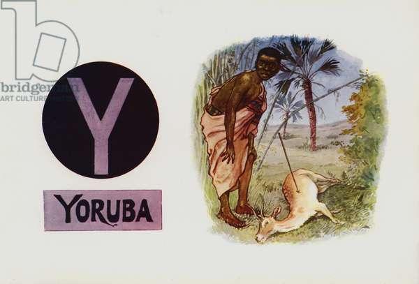 Y, Yoruba (colour litho)