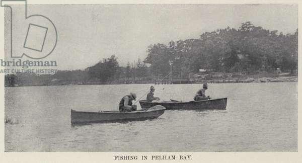 Fishing in Pelham Bay (b/w photo)