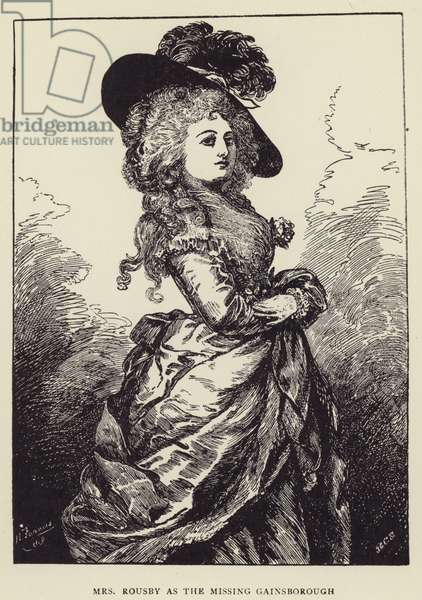 Mrs Rousby as the Missing Gainsborough (litho)