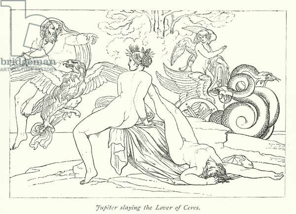 Jupiter slaying the Lover of Ceres (litho)