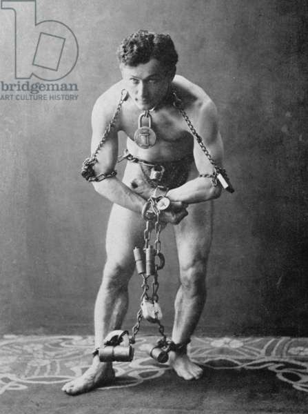 Harry Houdini, c.1900 (b/w photo)